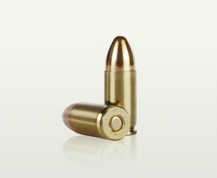 Munición para pistola en calibre 9 mm Nato y para subametralladora calibre 9 mm Nato