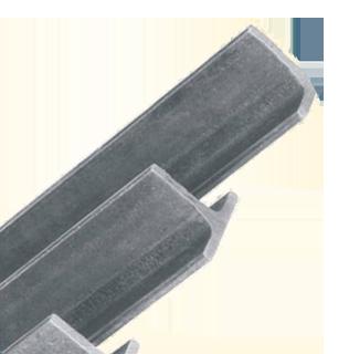 Perfil con sección transversal en forma de T