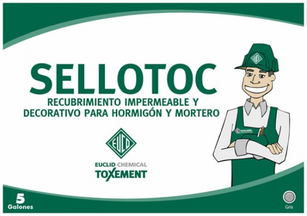 Recubrimiento impermeable y decorativo para hormigón y mortero  Sellotoc