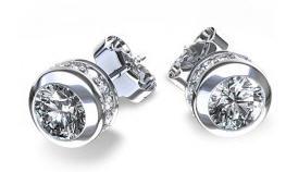 Comprar Pendientes de oro blanco y diamantes