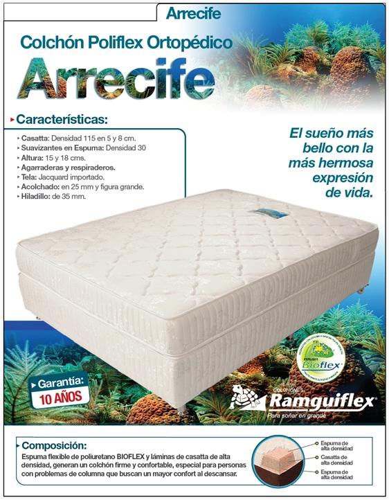 Comprar Colchón Poliflex Ortopédico - Arrecife