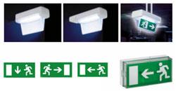 Comprar Luminaria no permanente con señalización y modelo combinado
