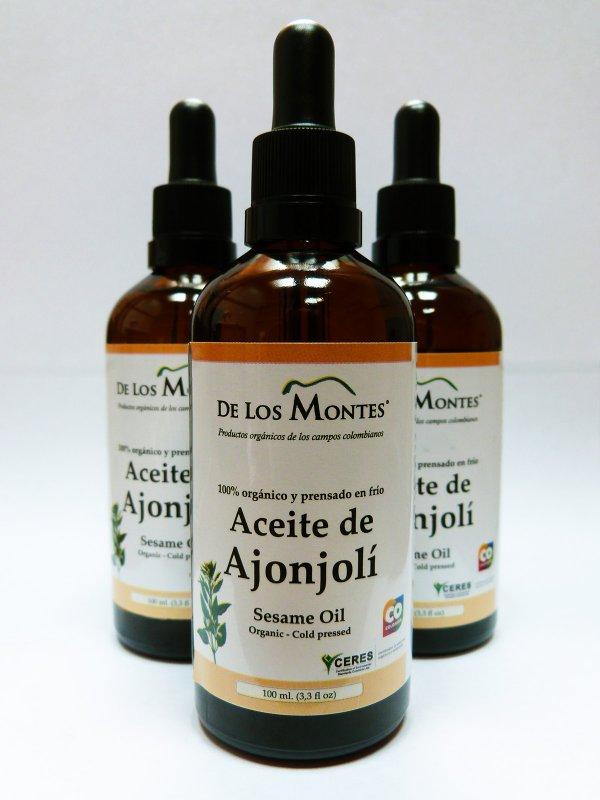 Comprar Aceite de Ajonjolí Orgánico Prensado en Frío de 100 ml. con gotero
