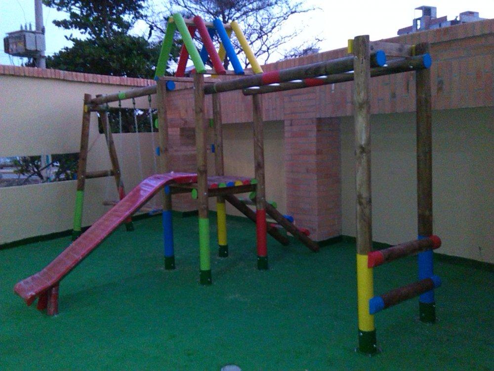 Comprar SPYD-012A: Parque Infantil con Columpio de 2 puestos,