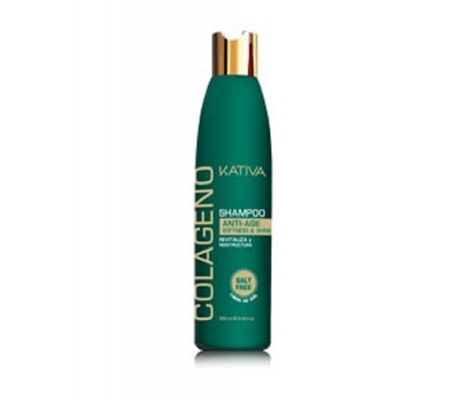 Comprar Shampoo Sin Sal Kativa Natural Colágeno Antiedad 250 ML