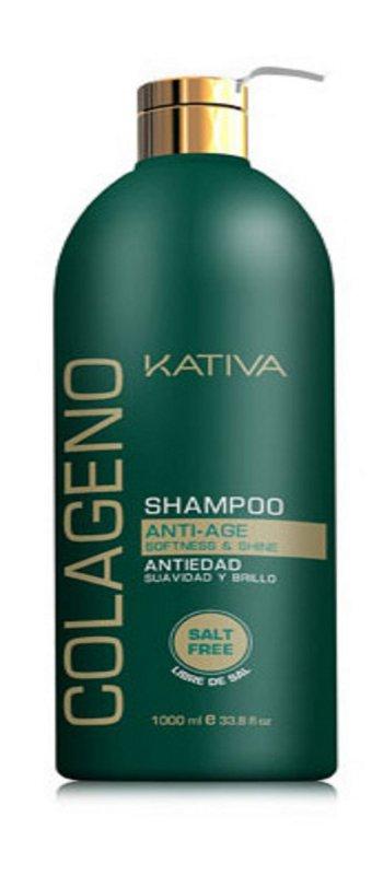 Comprar Shampoo Sin Sal Kativa Natural Colágeno Antiedad 500 ML