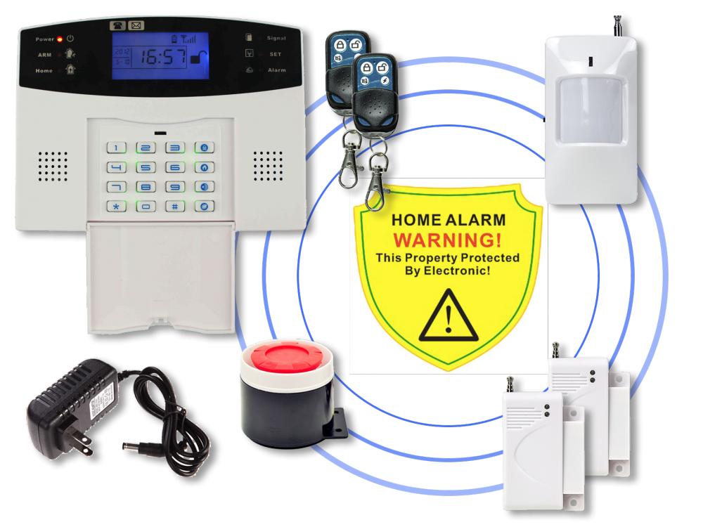 Comprar Kit Alarma Inalámbrica Gsm Casa, Apto, Bodega, Oficina, Finca - Sin cuotas y muy fácil de instalar!