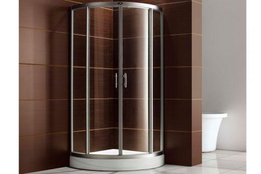 cabina de ducha esquinera