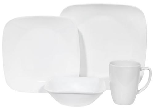 Comprar Corelle Square Pure White Dinnerware Set