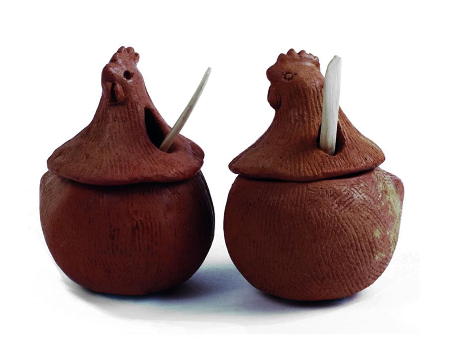 Alcaparras con Cuchara Ceramica