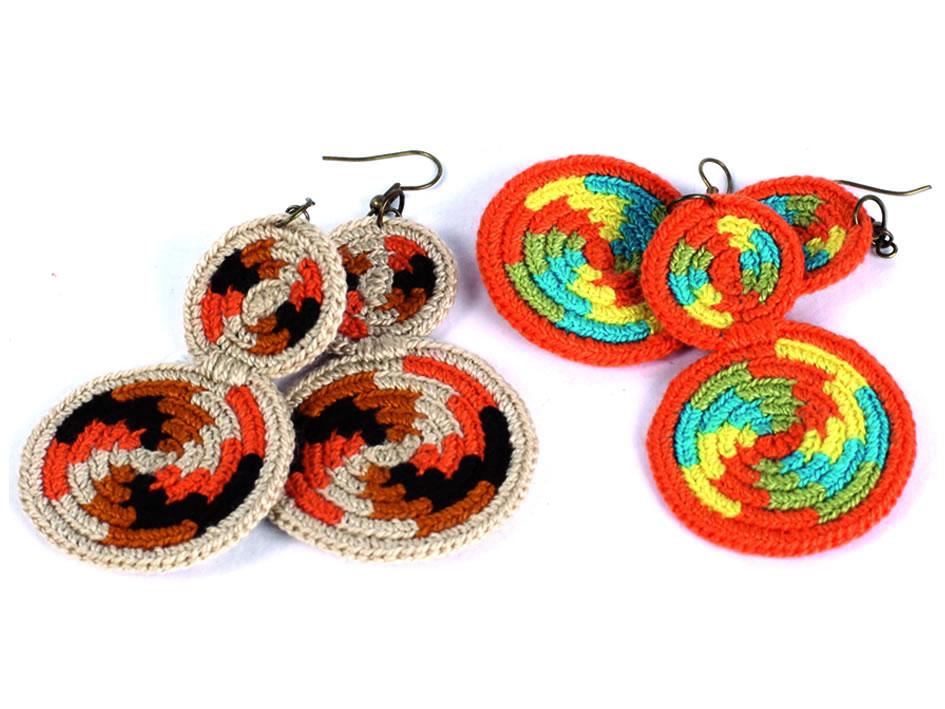 Aretes Tejido Wayuu