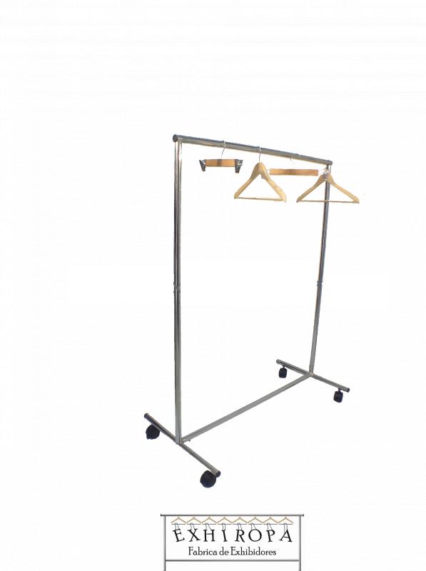 Comprar Racks muebles metálicos sencillos con ruedas desarmables para colgar ropa