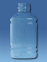 Botella Cuadrada 250ml P.E.T B28mm