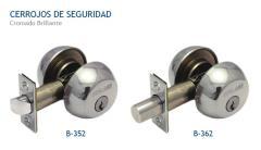 Cerrojos de Seguridad/Doble Cilindro - Pestillo