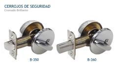 Cerrojos de Seguridad/Cilindro y Volteador -