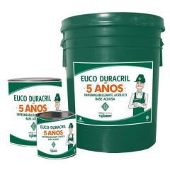 Impermeabilizante acrílico base acuosa con durabilidad de 5 años  Euco Duracril 5