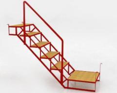 Escalera para andamio con pasamanos
