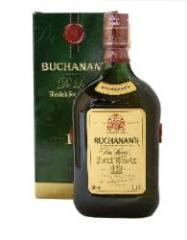 Botella de Whiskey Buchanan`s 12 Años