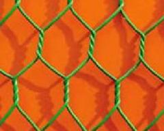 Malla hexagonal recubierta en PVC