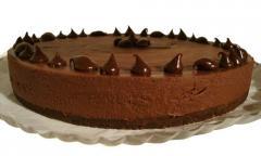 Torta de chocolate decorada