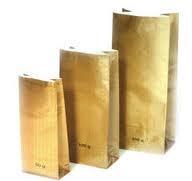 Bolsas de papel para las mezclas secas