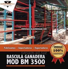 BASCULA GANADERA ELECTRONICA CON CAJON MD. BM