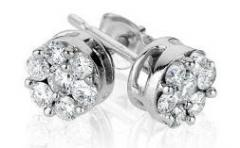 Pendientes de oro blanco con diamantes