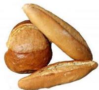 Pan blanco moldeado