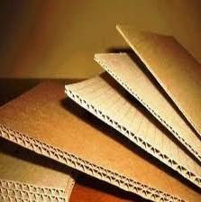 Cartón ondulado en hojas