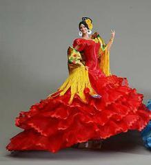 Muñeca Bailaora flamenca mod. Trinidad Roja