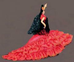 Muñecas Flamencas de España. Mod. Malaga