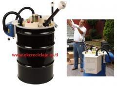 Máquina para reciclar tubos fluorescentes
