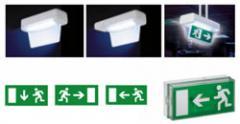 Luminaria no permanente con señalización y modelo combinado