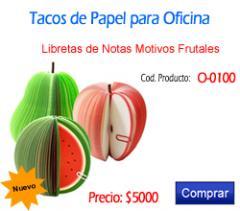 Tacos de papel O-0100 Tacos de Papel en figuras frutales