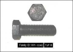 Tornillos Hexagonal UNC Negro