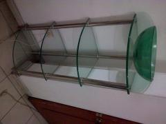 Repisas en vidrio