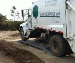 Bascula camionera portatil para pesaje por ejes