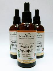 Aceite de Ajonjolí Orgánico Prensado en Frío de 100 ml. con gotero