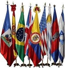 Banderas países exterior eventos conmemorativos