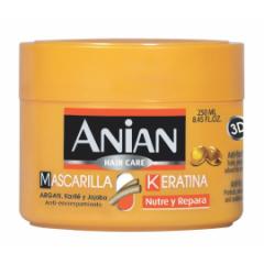 Mascarilla Capilar Anian Anti-Encrespamiento Keratina  3 D 250 ML