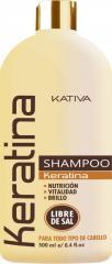 Shampoo Sin Sal Kativa Natural Keratina 500 ML