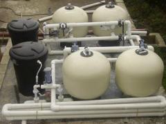 Planta modular con filtros a presión