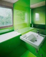 Vidrio cristal verde