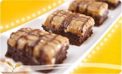 Pasteles Brownie Maní Caramelo