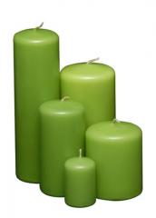 Velas Cilindricas Verde Manzana