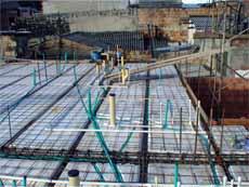 Sistema utilizado para construcción de placas de