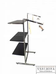 Rack exhibidores para colgar y doblar ropa