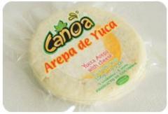Arepa de yuca rellena de queso mozzarella