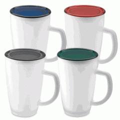 Glass Mug con Tapa