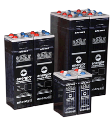 Filled batteries